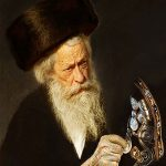 Grandfather with the golden shoe by Martine Brand